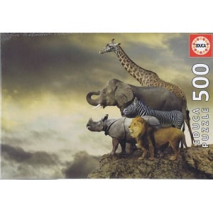 Animals on the Edge of a Cliff, 500 brikker