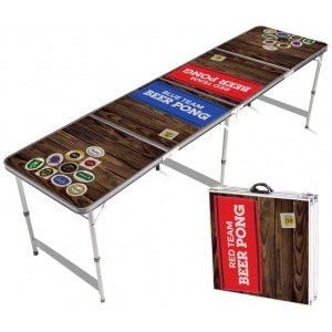 Beer Pong Bord Red & Blue